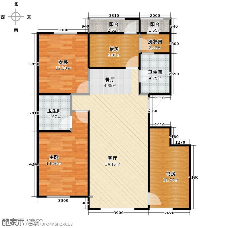 证大光明城116.00㎡三期22、25号楼3C5户型3室2厅2卫