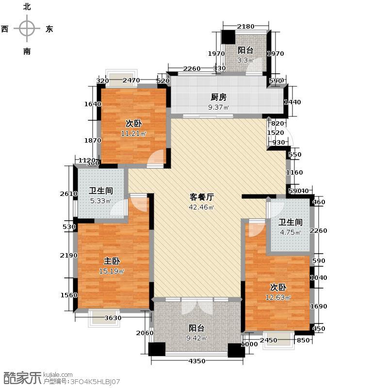 融科贻锦台131.90㎡B户型10室