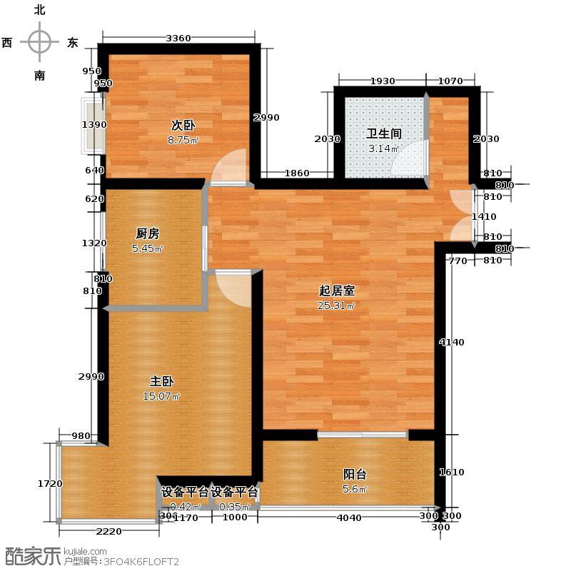京汉君庭82.79㎡B1/B1反户型2室1厅1卫