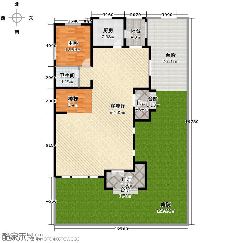 八达岭孔雀城232.35㎡A1一层户型10室