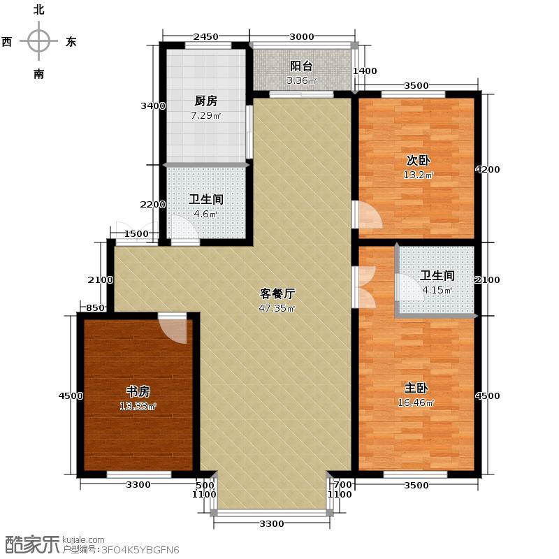 博众新城二期142.00㎡c户型3室1厅2卫1厨