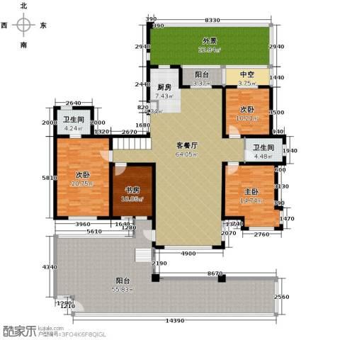潭泽溪郡4室2厅2卫0厨214.64㎡户型图