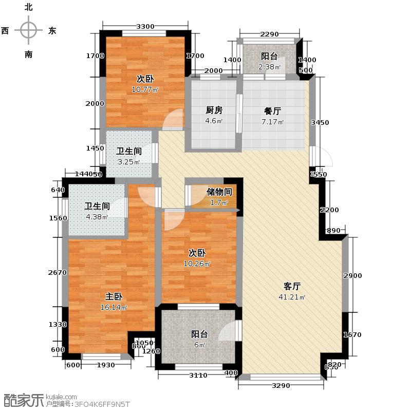 中信城126.00㎡枫丹白露三期26、31、32、36、37、39、40#楼户型3室2厅2卫