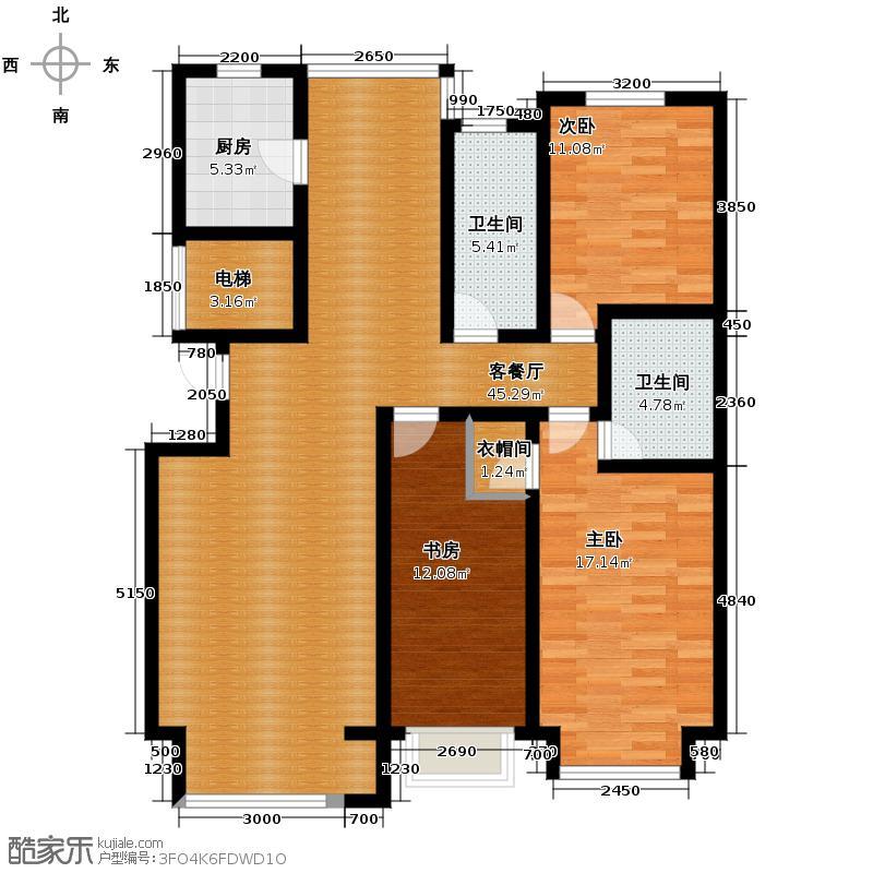 好景山庄148.62㎡四期36号楼户型3室2厅2卫
