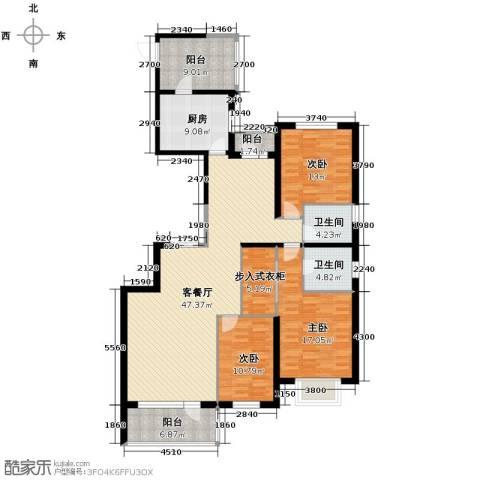 奕聪花园3室2厅2卫0厨184.00㎡户型图