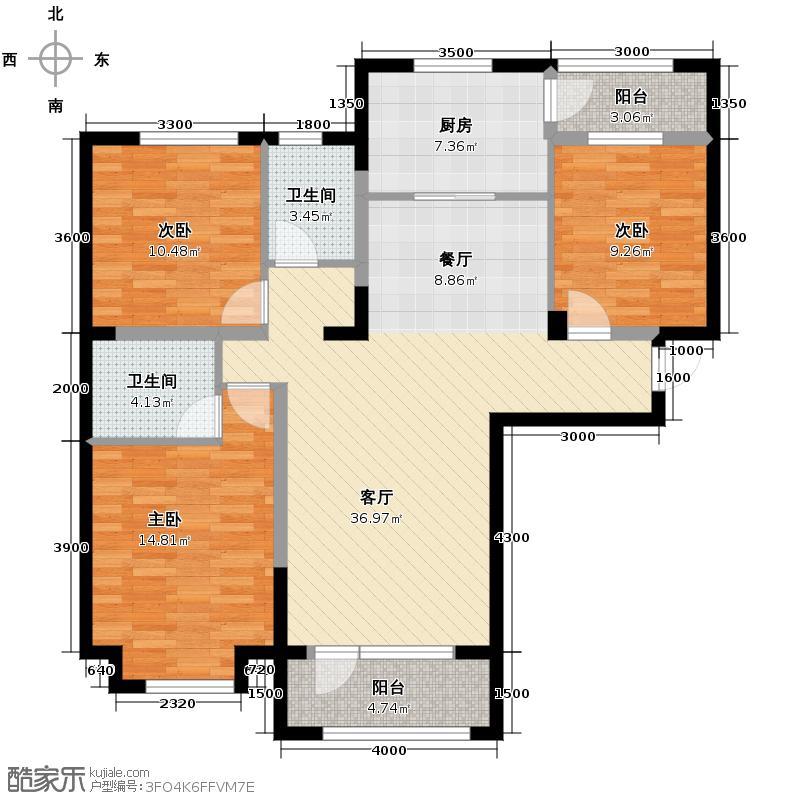 中信城119.95㎡枫丹白露2#、3#楼04户型3室2厅2卫