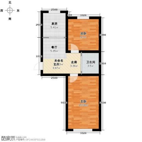 凤凰雅居2室1厅1卫0厨65.00㎡户型图