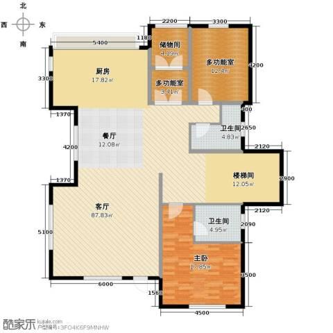 远洋戛纳小镇1室2厅2卫0厨135.46㎡户型图