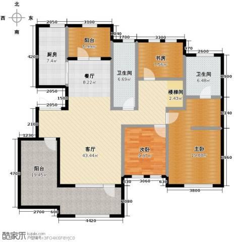 远洋戛纳小镇2室2厅2卫0厨126.25㎡户型图