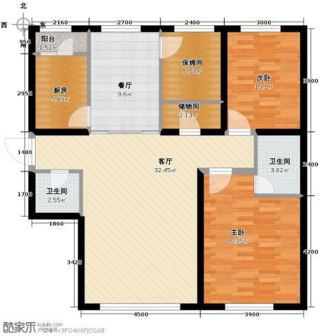 福苑2室2厅2卫1厨127.00㎡户型图