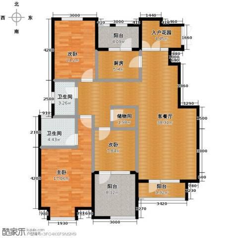 远洋戛纳小镇3室2厅2卫0厨126.00㎡户型图