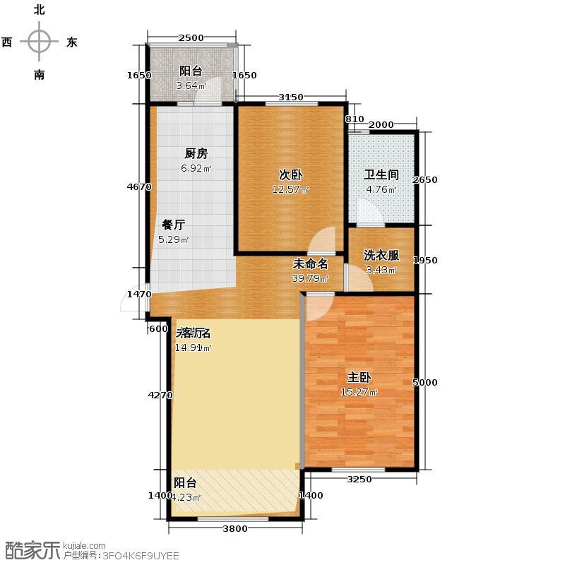 枫蓝国际68.28㎡10-11号楼户型2室1厅1卫