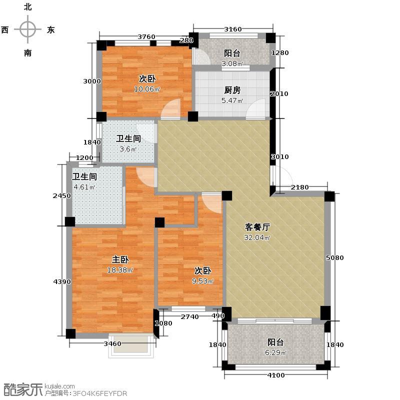 青林湾104.51㎡户型10室