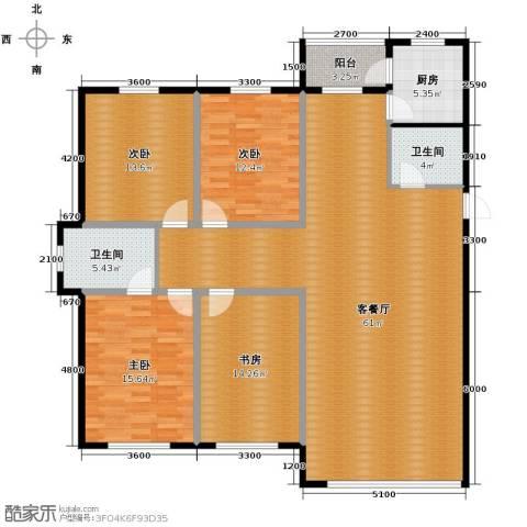 凤凰雅居4室2厅2卫0厨173.00㎡户型图