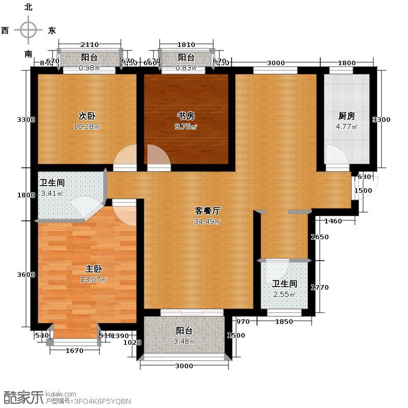 易合坊125.84㎡C1豪阔空间户型3室2厅2卫