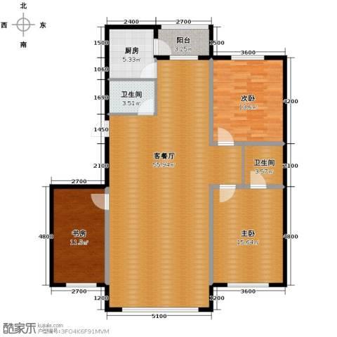 凤凰雅居3室2厅2卫0厨144.00㎡户型图