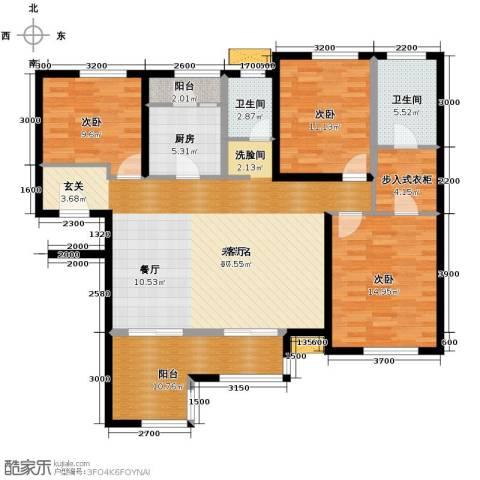 禅城绿地中心4室2厅2卫0厨128.00㎡户型图