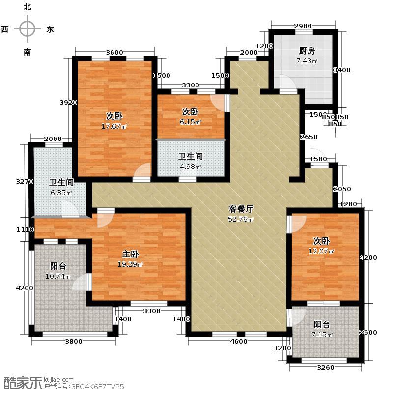 力旺塞歌维亚164.98㎡8户型4室1厅2卫1厨