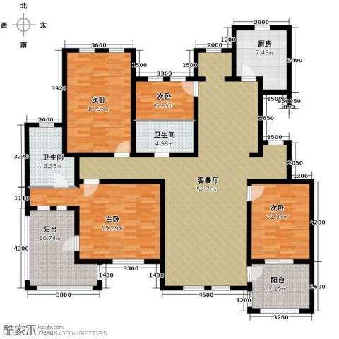 力旺塞歌维亚4室1厅2卫1厨206.00㎡户型图