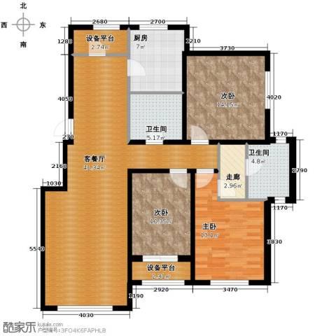 伟峰东第3室2厅2卫0厨138.00㎡户型图