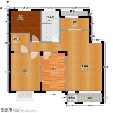 天和人家3室2厅2卫0厨119.00㎡户型图