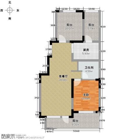 棠棣2室2厅1卫0厨90.00㎡户型图
