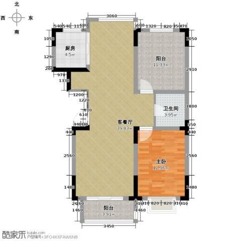 棠棣2室2厅1卫0厨102.00㎡户型图