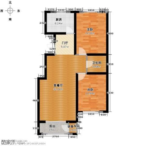 蓝山世家2室2厅1卫0厨97.00㎡户型图
