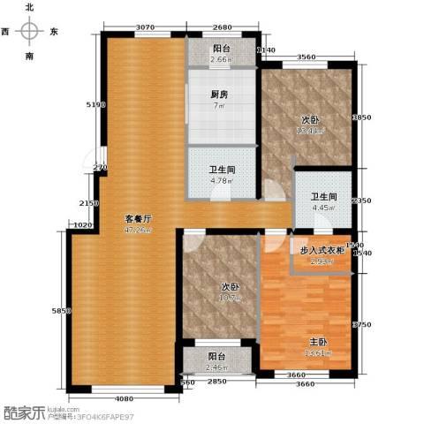 伟峰东第3室2厅2卫0厨144.00㎡户型图