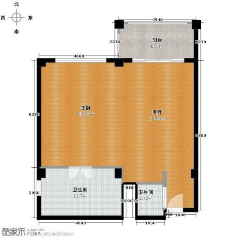 戴河首岭1室1厅1卫0厨118.00㎡户型图