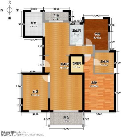 万科金域松湖2室2厅1卫0厨143.00㎡户型图