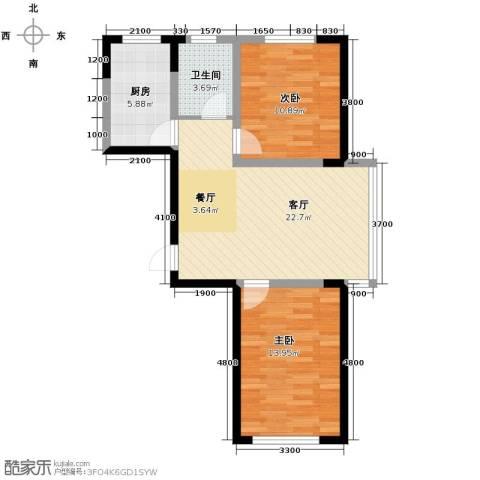 嘉元十方界2室2厅1卫0厨84.00㎡户型图