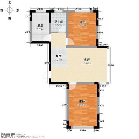 嘉元十方界2室1厅1卫0厨86.00㎡户型图