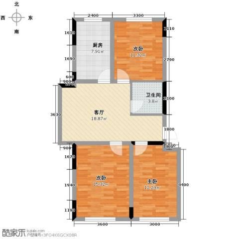 嘉元十方界3室1厅1卫0厨96.00㎡户型图