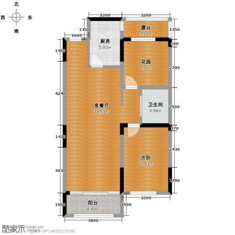 上东城市之光2室2厅1卫0厨89.00㎡户型图