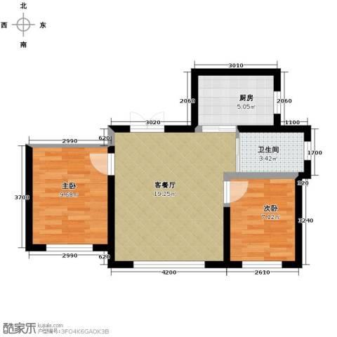 御景名都2室2厅1卫0厨79.00㎡户型图