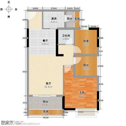 名汇嘉园1室1厅1卫1厨93.00㎡户型图