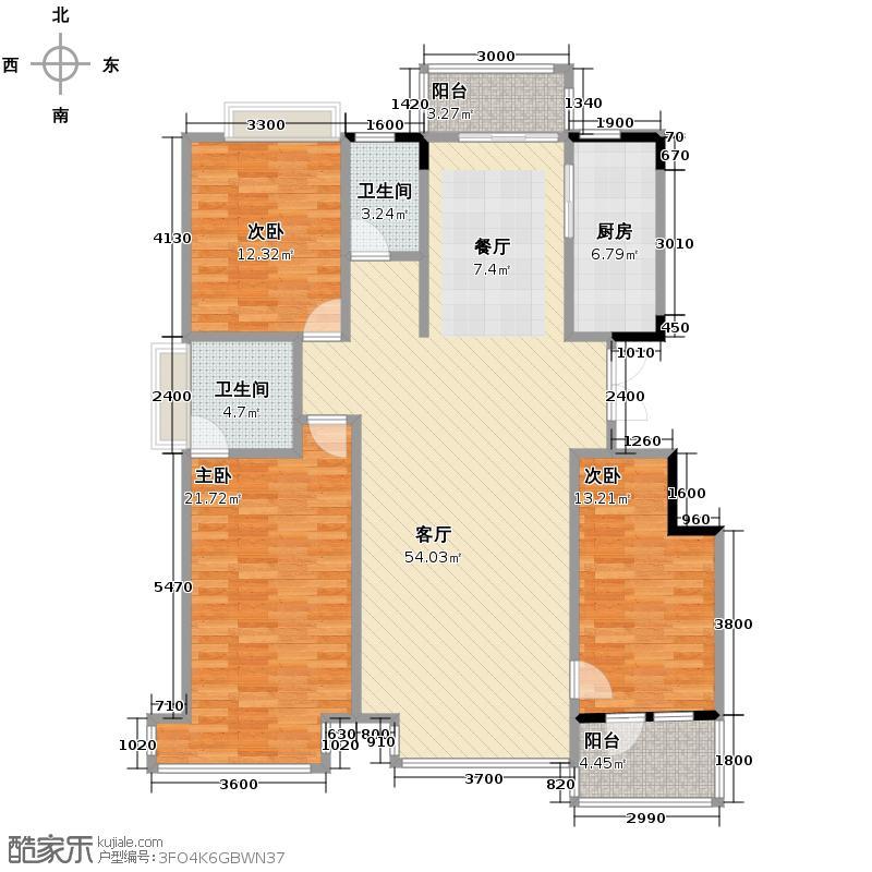 保利百合香湾154.00㎡户型3室2厅2卫