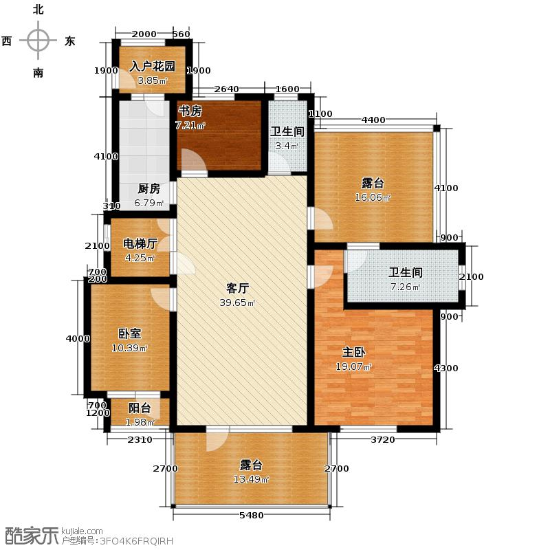 廊坊孔雀城116.00㎡图为户型3室2厅2卫