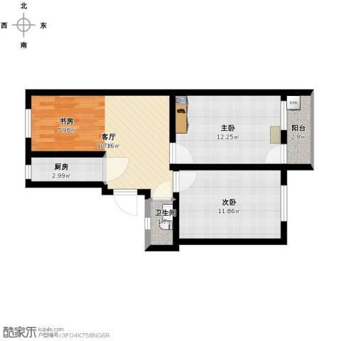 象牙新村2室1厅1卫1厨72.00㎡户型图