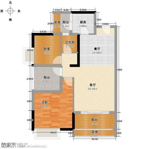 名汇嘉园1室1厅1卫1厨89.00㎡户型图