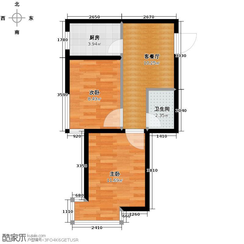 海伦堡53.00㎡C座D户型2室1厅1卫