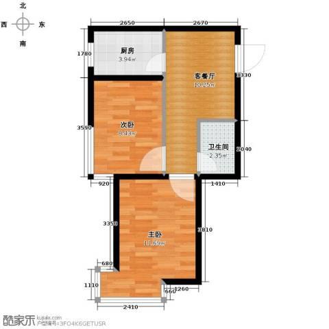 海伦堡2室1厅1卫0厨53.00㎡户型图
