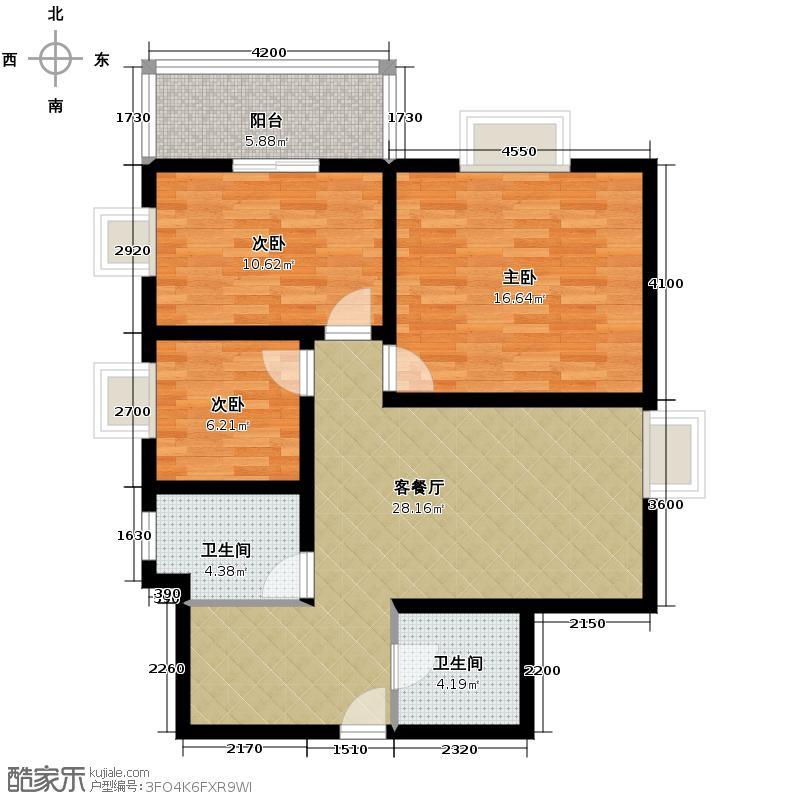 双威理想城108.75㎡A户型10室