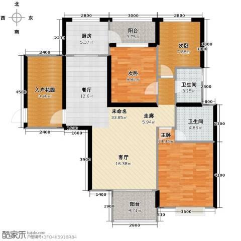 旭辉华庭3室0厅2卫1厨126.00㎡户型图