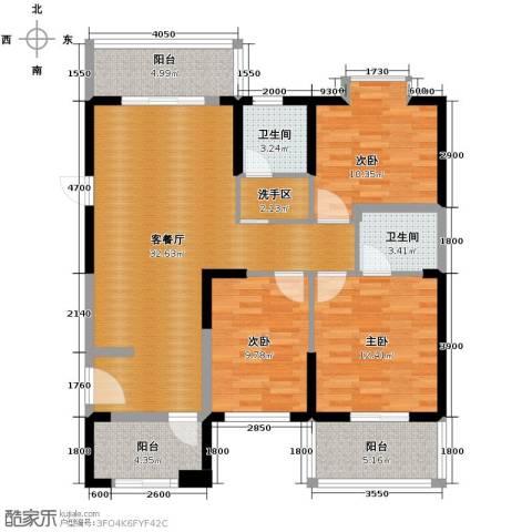 天朗御湖3室2厅1卫0厨120.00㎡户型图