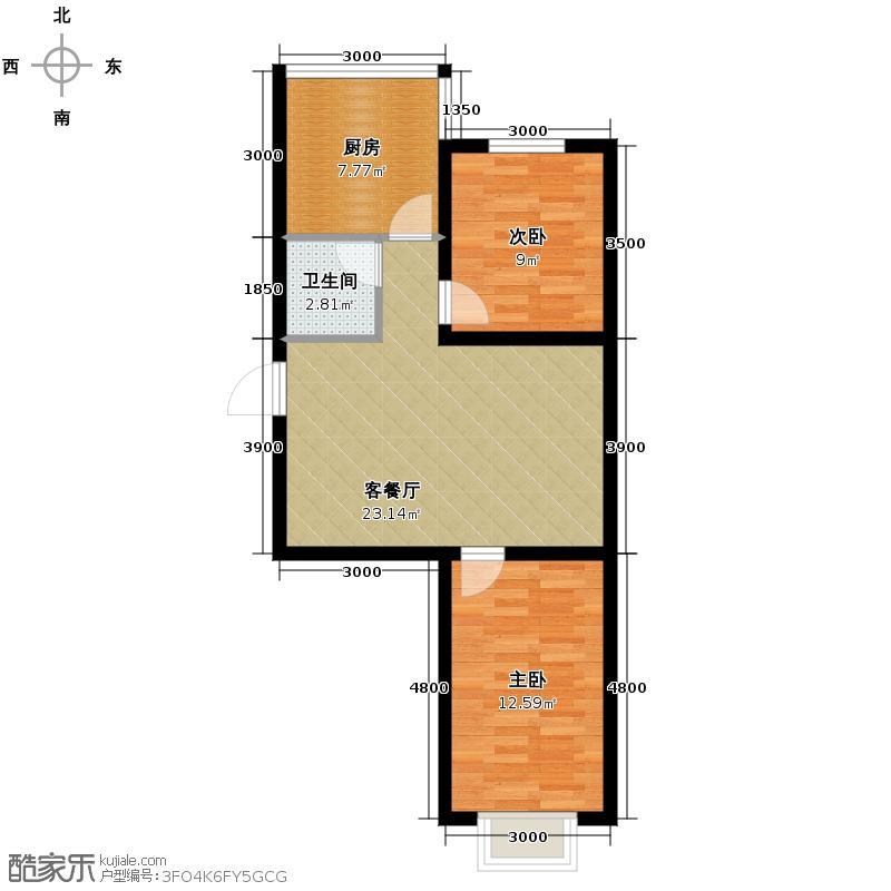 水印蓝庭76.14㎡户型10室