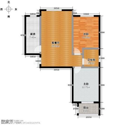 唐城一品2室2厅1卫0厨96.00㎡户型图