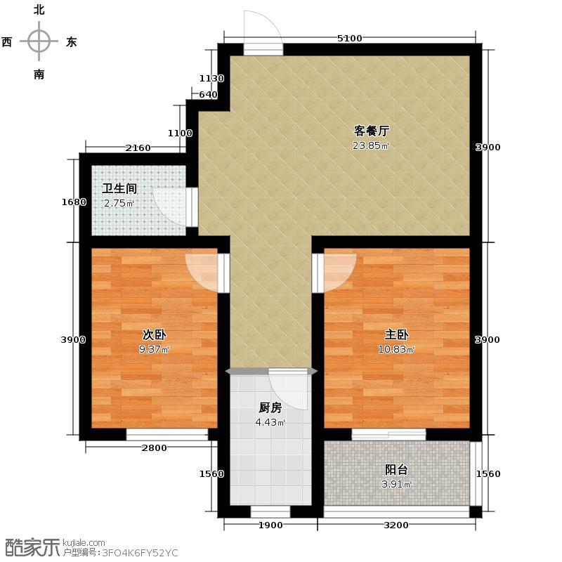 水印蓝庭76.43㎡户型10室