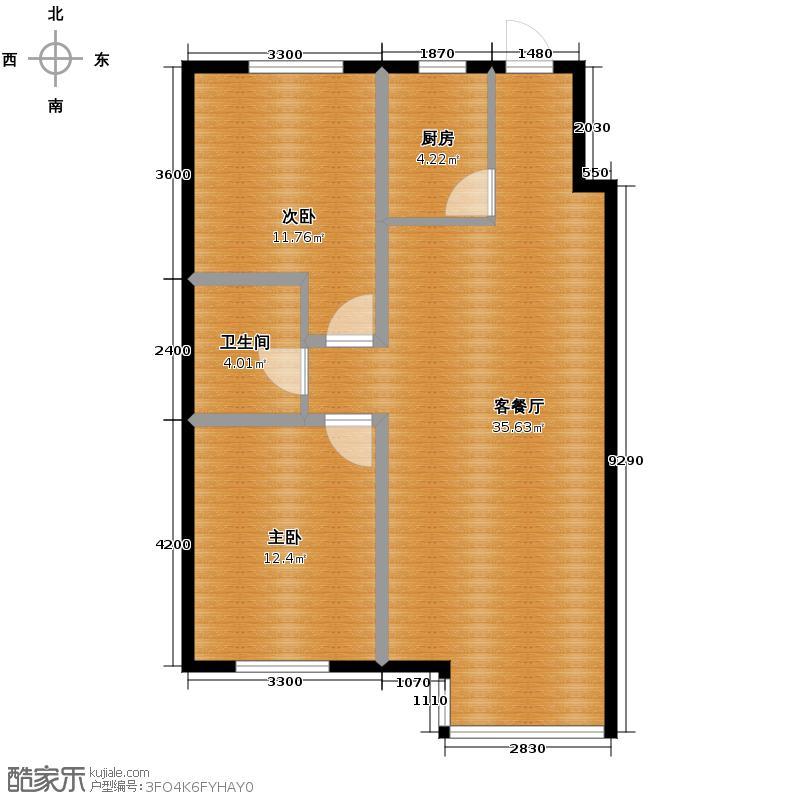百荷湾93.96㎡GD户型2室2厅1卫